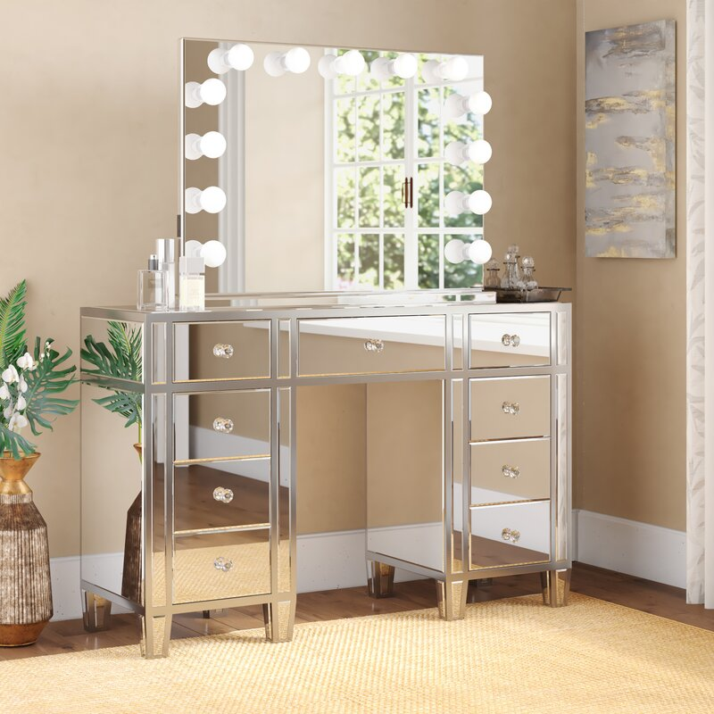 Rosdorf Park Rockland Vanity Set With Mirror Amp Reviews