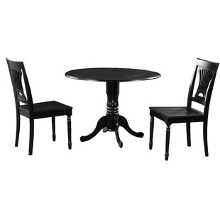 Brompton 3 Piece Drop Leaf Solid Wood Dining Set