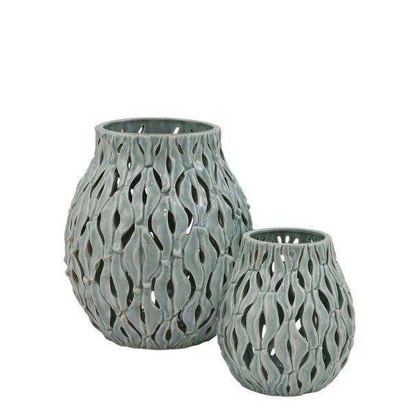Dakota Fields 2 Piece Ceramic Votive Set Wayfair