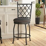 Rhoads Metal 24.5 Swivel Bar Stool by Fleur De Lis Living