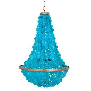 Blue chandeliers youll love manor 3 light chandelier aloadofball Gallery