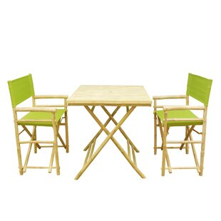 Shawmut Bamboo 3 Piece Outdoor Dining Set