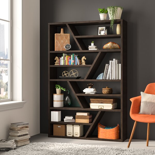 Bookcase With Glass Shelves | Wayfair
