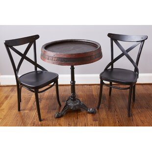 Found Wine Barrel Bistro Table