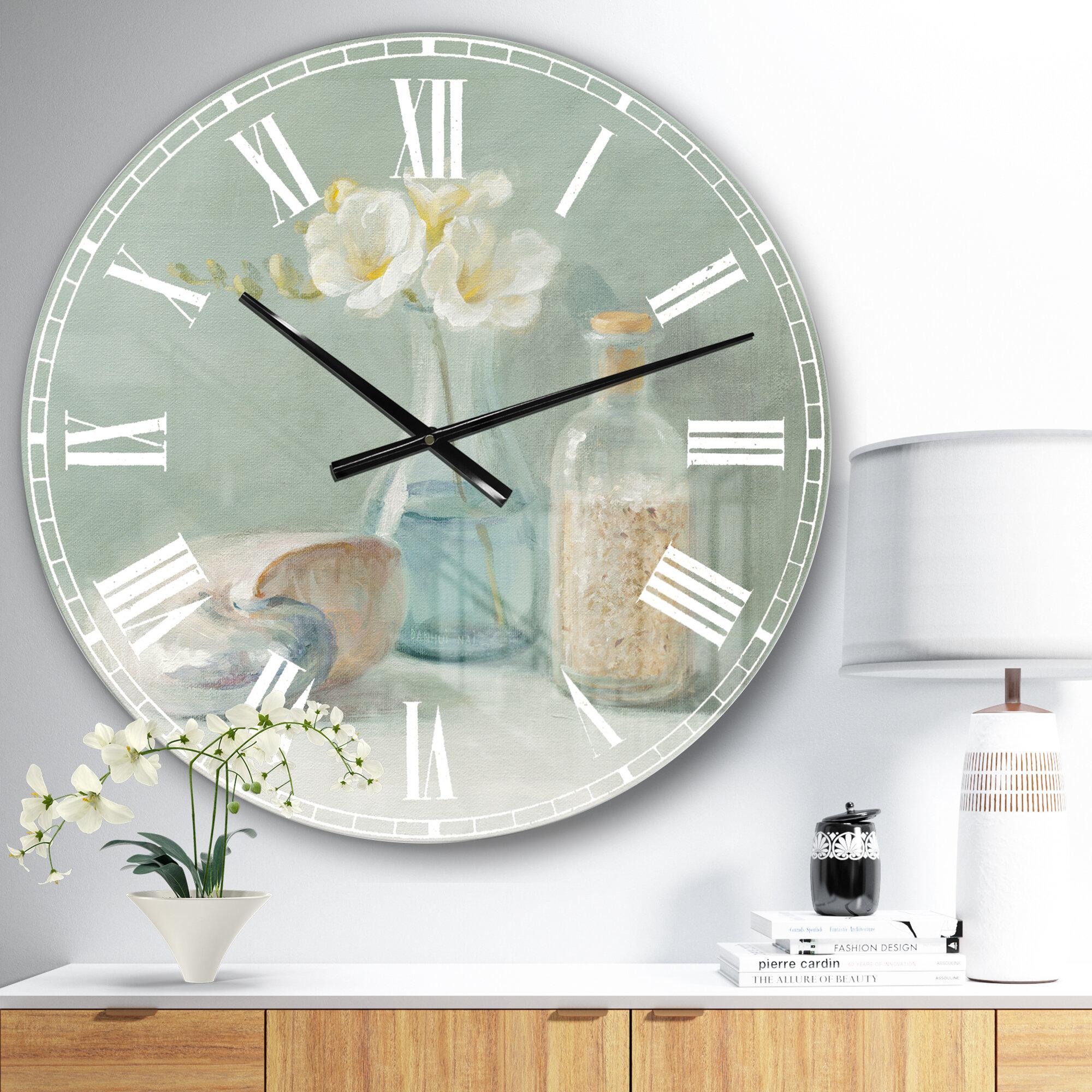East Urban Home Farmhouse Wall Clock Wayfair