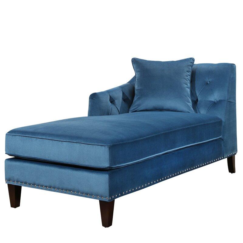 Macdonald Velvet Chaise Lounge  sc 1 st  Wayfair.com : chaise lounge blue - Sectionals, Sofas & Couches