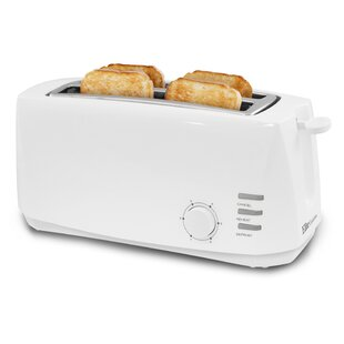 Cuisine 4 Slice Long Slot Cool Touch Toaster