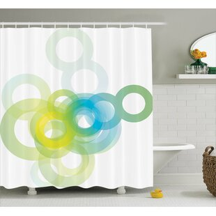 Whittier Modern Ombre Circle Single Shower Curtain