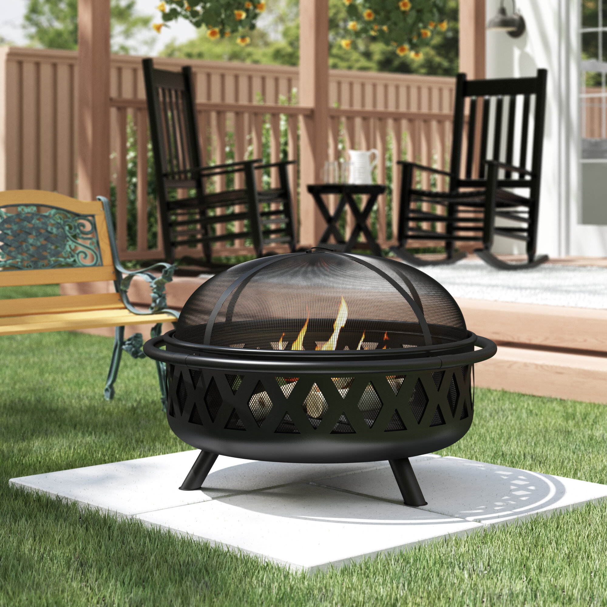 Terrace and Barbecue w//Glass Wind Guard 43 Inch 50,000 BTU Gas Fire Pit Table for Garden,Courtyard Clear Glass Rocks Balcony Brown Aoxun Outdoor Propane Fire Pit Table