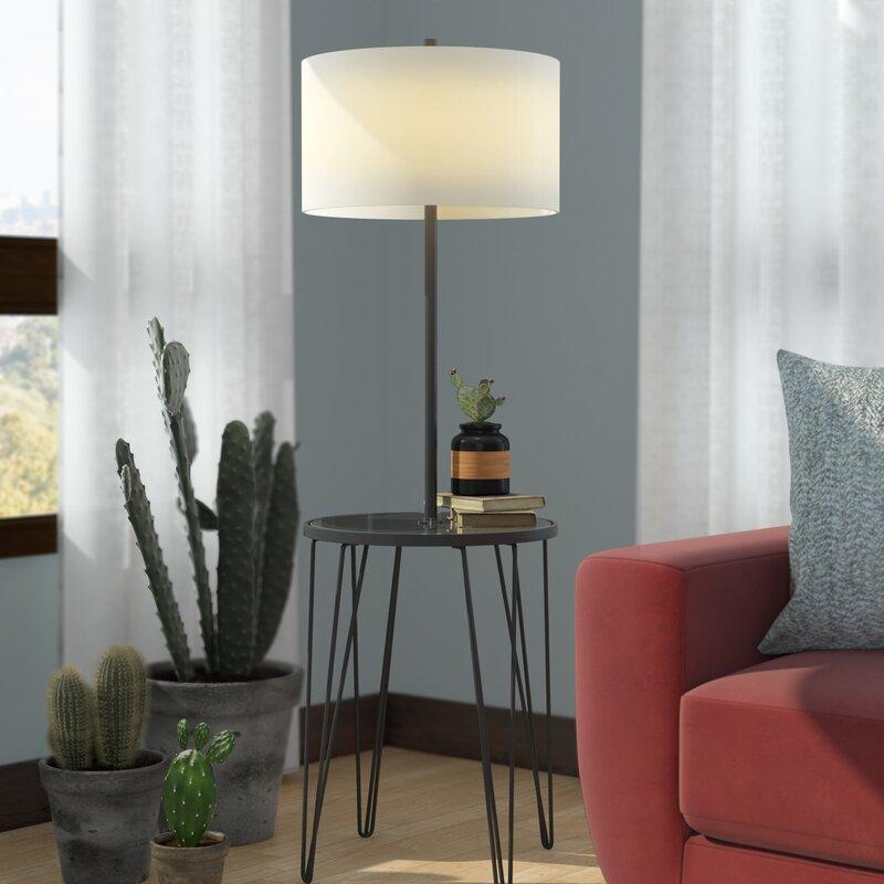 Ivy Bronx Dellinger Side Table 58 Floor Lamp Reviews Wayfair