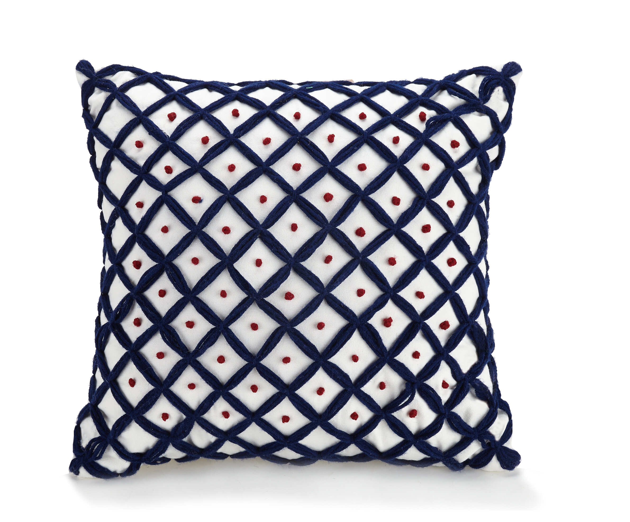 Jessica Simpson Home Verbena French Knot Cotton Throw Pillow Wayfair