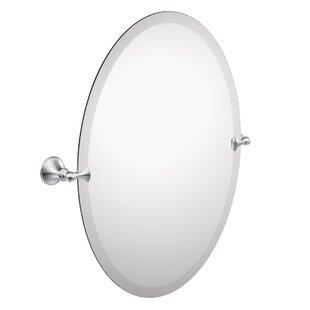 Glenshire Contemporary Beveled Frameless Vanity Mirror by Moen