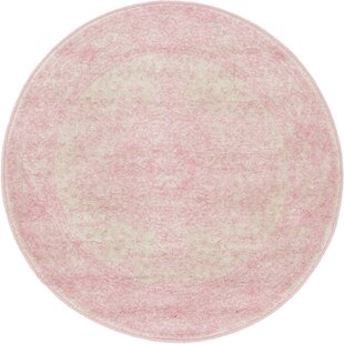Pat Pink Area Rug by Charlton Home