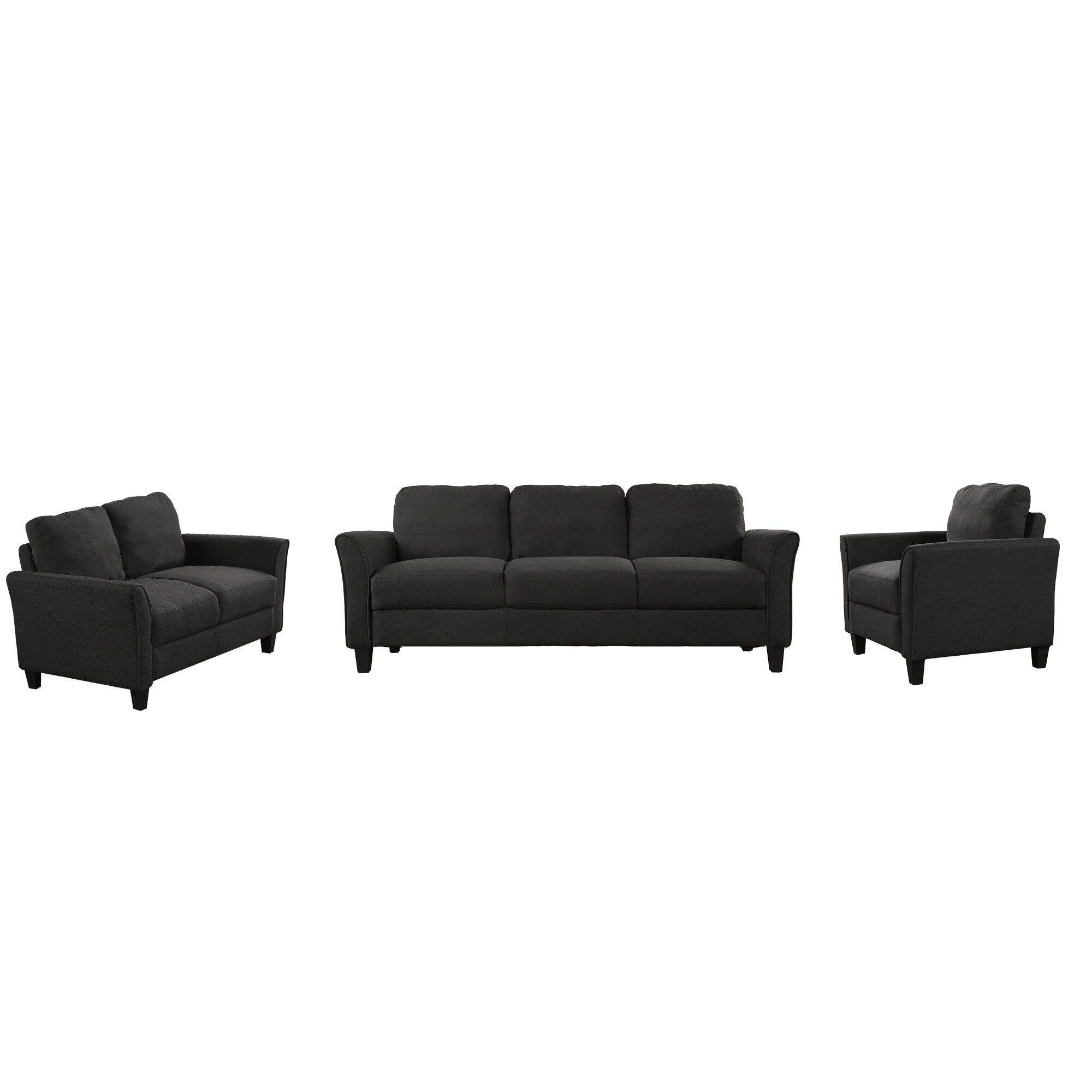 Red Barrel Studio Abruscato 3 Pieces Standard Living Room Set Wayfair