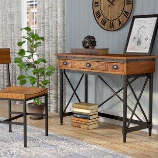 Inexpensive Duke 2-Drawer Industrial Writing Desk ByTrent Austin Design