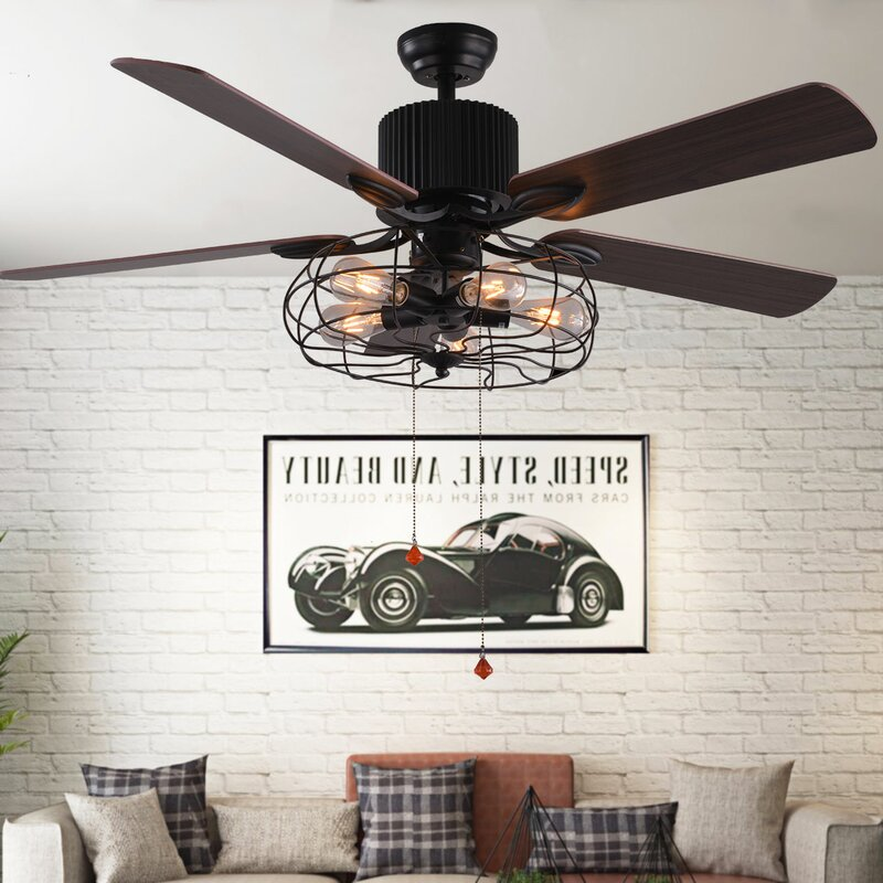 Borg 5 Blade Ceiling Fan With Remote