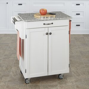 Savorey Kitchen Cart with Granite Top by August Grove Cheap