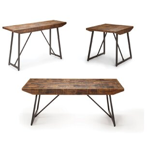 Evander 3 Piece Coffee Table Set