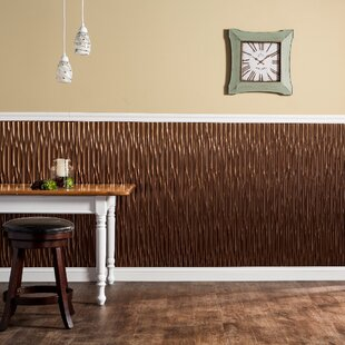 Dunes Vertical 48 X 96 Pvc Wall Paneling In Oil Rubbed Bronze