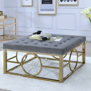 Sheyla Modern Square Tufted Cocktail Ottoman by Everly Quinn