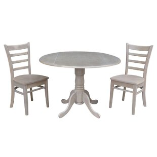 Broken Arrow 3 Piece Solid Wood Dining Set