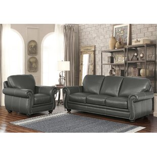 Darby Home Co Fairdale 2 Piece Leather Li..