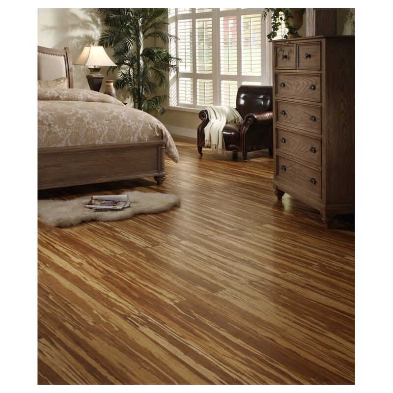 4 3 Solid Strand Woven Bamboo Flooring In Tigerstripe