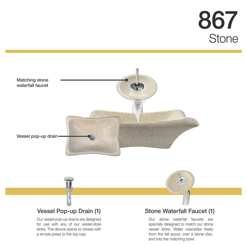 MRDirect Galaga Stone Rectangular Vessel Bathroom Sink with Faucet ...