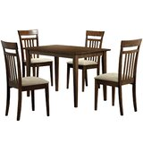 Miran 5 Piece Solid Wood Dining Set by Charlton Home®