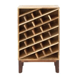 Wood 24 Bottle Floor Wine Bottle Rack