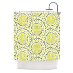 KESS InHouse Sprouting Cells Shower Curtain