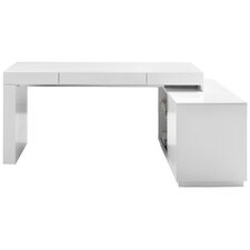 Interesting White Executive Desk With Hutch Waterman Lshape Computer Throughout Inspiration Decorating