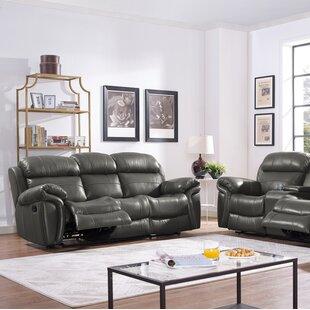 Hatzieleftheriadis Leather Reclining Sofa