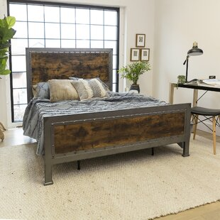 Berta Industrial Queen Panel Bed