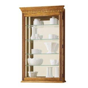 Alcott Hill Carmelita Wall-Mounted Curio Cabinet