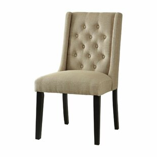 Chan Contemporary Wing-back Upholstered D..