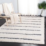 Siragan Striped Beige/Black Area Rug