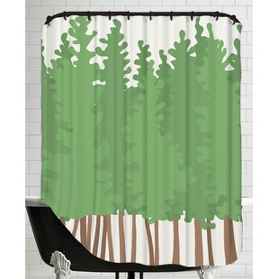 Big Trees Single Shower Curtain