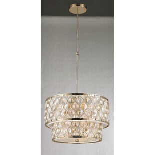 Rosdorf Park Adonis Crystal 9-Light Drum Chandelier