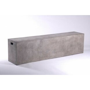 Alysha Concrete Bench by 17 Stories