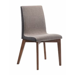 Alejandro Wooden Armless Upholstered Dining Chair (Set of 2)