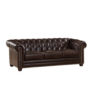 Kensington Top Grain Leather Chesterfield Sofa by Amax