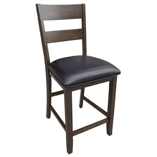Alder Ladderback Upholstered Dining Chair Loon Peak