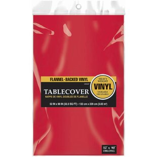 Beau Red Vinyl Tablecloth | Wayfair