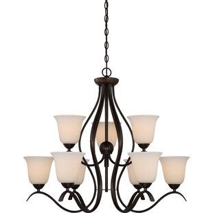 Charlton Home Ehrlich 2 Tier 9-Light Shaded Chandelier