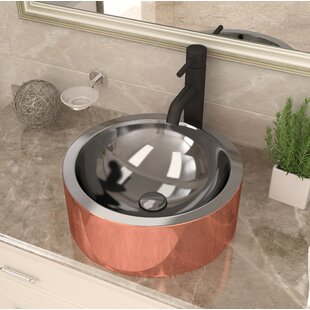 Best Reviews Titan Metal Circular Vessel Bathroom Sink By ANZZI
