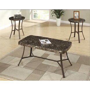 A&J Homes Studio Emerson 3 Piece Coffee Table Set