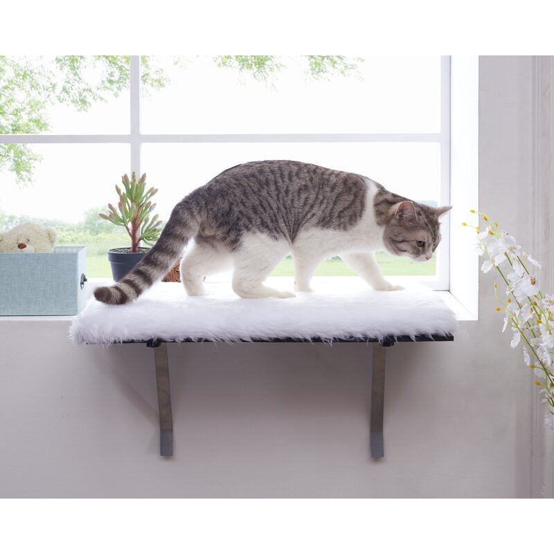 Cat Bed Foam Cushion Pet Cat Window Seat Perch Cat Perch Window Hammock Bed Pet Cat Seat Hammock Pet Resting Seat Safety Cat Shelves Sunbath Gray