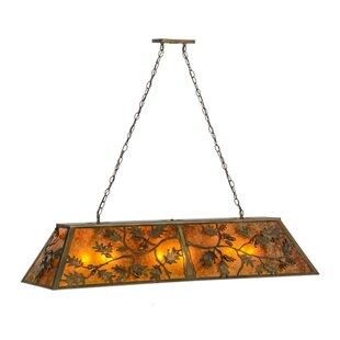 Meyda Tiffany Oak Leaf and Acorn 9-Light Pool Table Lights Pendant