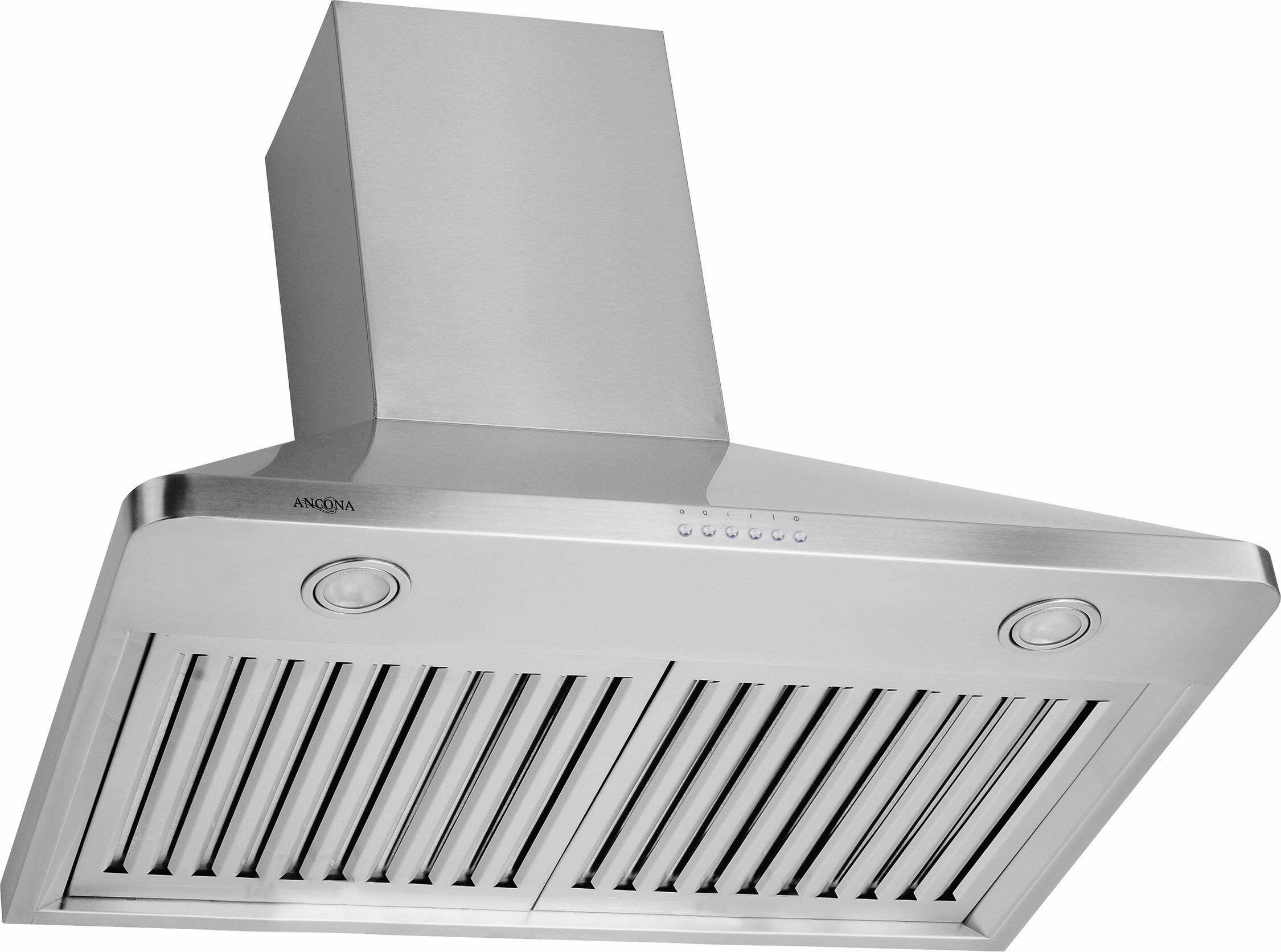 ancona 30 rapido chef 900 cfm ducted wall mount range hood wayfair